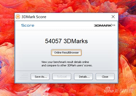 新3d mark5万多的跑分
