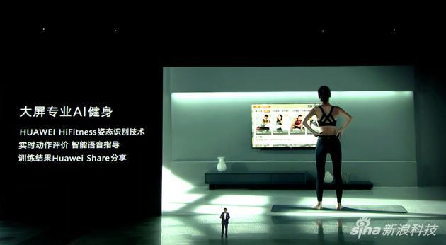 通过大屏的摄像头可以进行健身