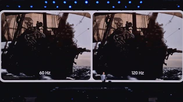 120Hz刷新率的屏幕