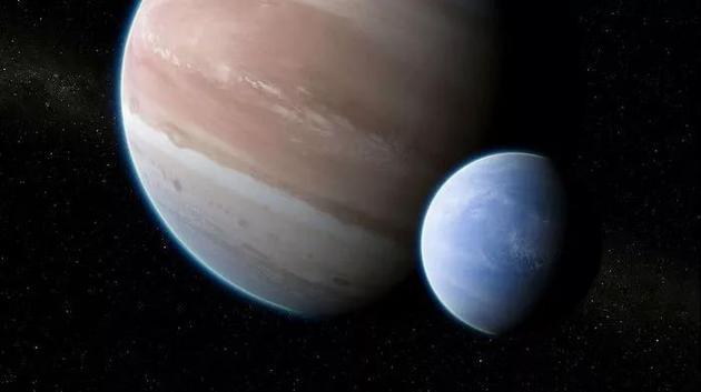 ○ 第一顆系外衛星或許是一個海王星大小的世界圍繞着一個木星大小的行星。| 圖片來源:Dan Durda