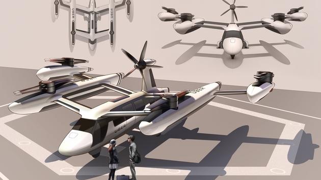 Uber与美军方合作研发联合旋转旋翼 一款更安静的飞机