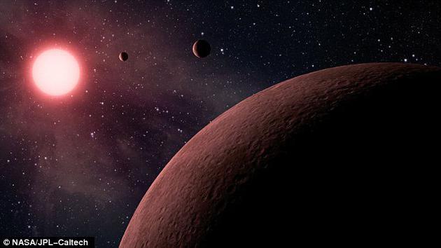 图中是艺术家描绘的KOI-961行星,它是开普勒太空望远镜2012年发现的一颗恒星,同时,开普勒探测到3颗小型行星环绕这颗寒冷红矮星运行。