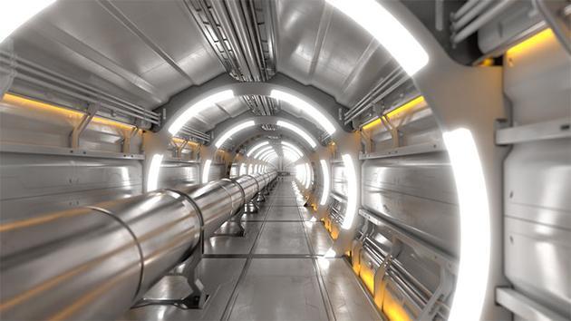 未来环形对撞机的效果图