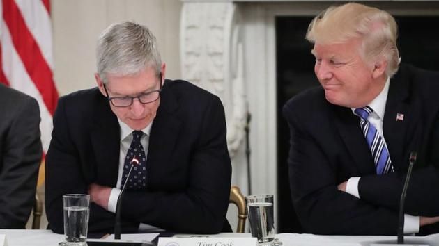"""特朗普:库克是""""伟大的高管"""" 因为他有事直接找我"""