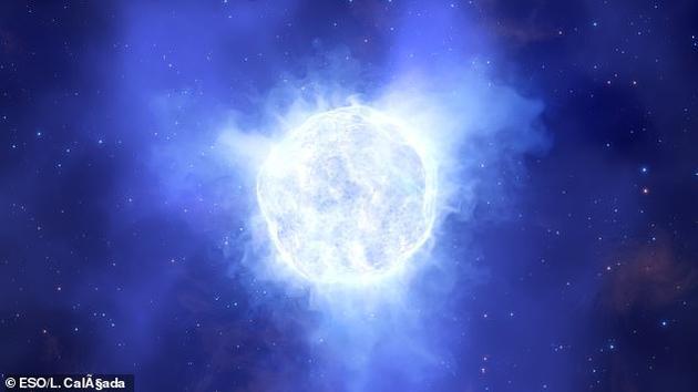 这颗蓝色的变星位于金曼矮星系,天文学家使用欧洲南方天文台的甚大望远镜发现了它的消失。
