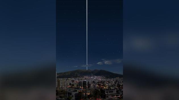 图为从赤道上的厄瓜多尔看到的情景。