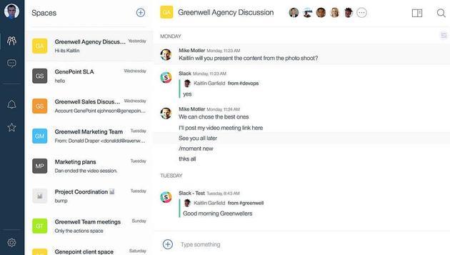 (Slack 最主要的功能其实是即时通讯,通过群组聊天展现实现企业内部协作,辅之以体验极佳的内部搜索和项目管理工具,大大提高了企业的工作效率。 图 | Slack)