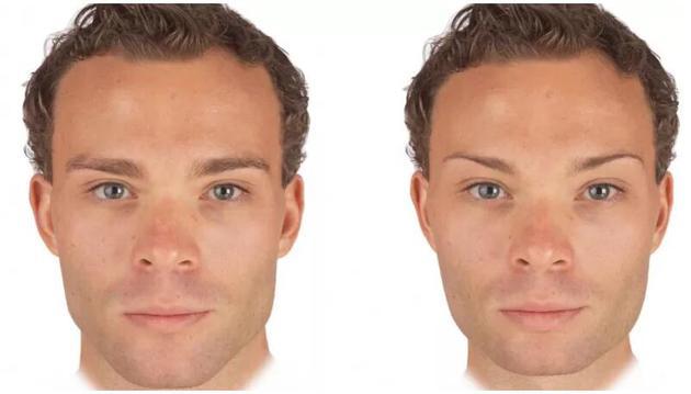 异性恋女性往往青睐更加阳刚的男性面孔(左),但这种偏好与是否服用了避孕药没有关系。