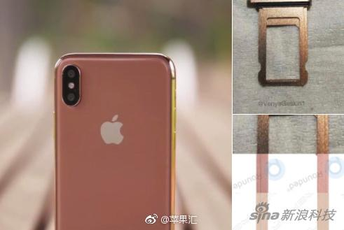 在去年9月之前 就有传闻说会有一款腮红金iPhone X