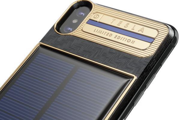 装有太阳能电池的iPhone X 有一个电动跑车的名字
