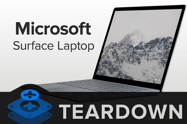 Surface Laptop 2拆解:得分0 完全不能维修