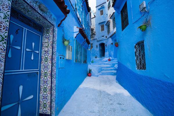 摩洛哥舍夫沙万绝美风光 蓝色迷城让人心驰神往