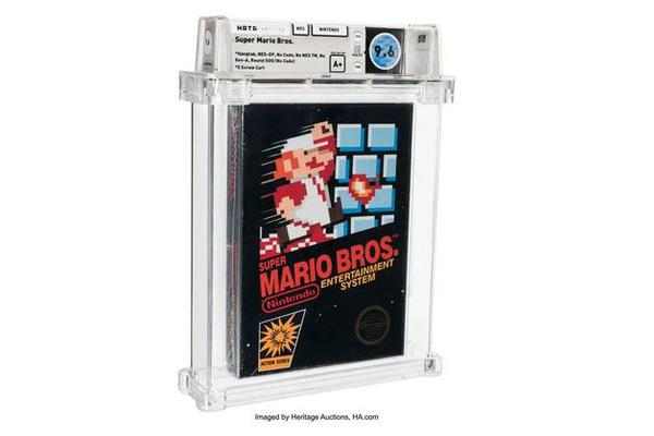 1985版《超级马里奥兄弟》卡带66万美元拍卖 创新纪录