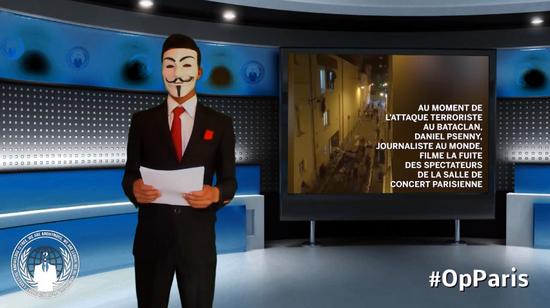 [视频]Anonymous(匿名者)宣布将对ISIS发起最大规模的网络攻击(视频自动播放、慎点)