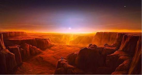 图为火星水手大峡谷日出