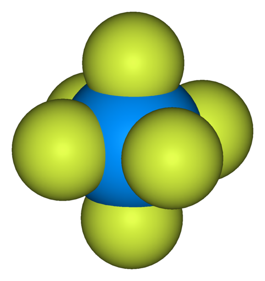 图17 六氟化铀分子结构。