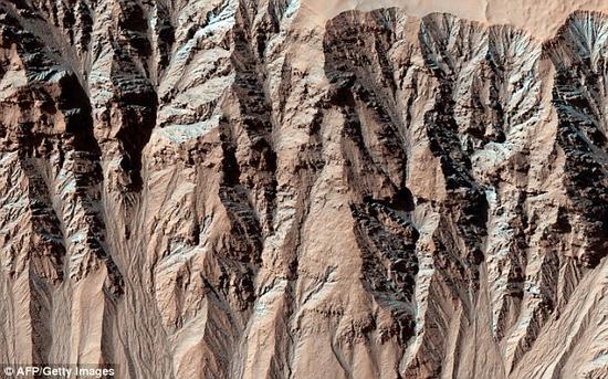 2000年,NASA宣布在火星表面发现了一些沟壑。他们认为这能成为火星上存在液态水的证据。但一项最新研究显示,这些沟壑实际上是由干冰冲刷形成的。