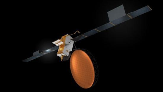 """Inmarsat-6""卫星具有一个9米直径的L波段天线"