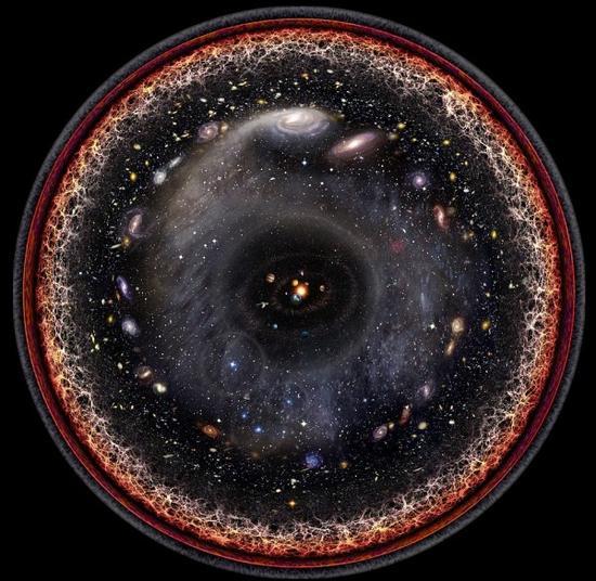 美国艺术家一张图画出整个宇宙:以太阳为中心