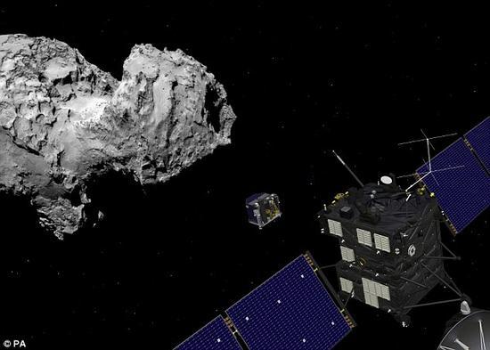 """67P彗星正在逐渐远离太阳,这也就意味着""""飞来""""号太阳能电池板所能够获取的能量越来越少。"""