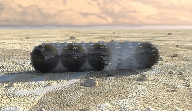 在另一种设计方案中,机器人将利用装在流体隔膜中的球状电磁铁向前移动。