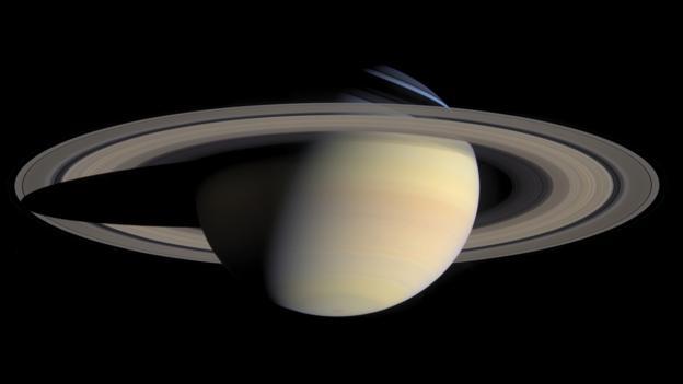 当光照角度合适,土星B环会成为整个土星光环中最明亮的一环