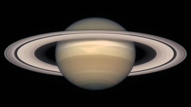 土星光环的主要成分是尘埃颗粒,小石块和冰块