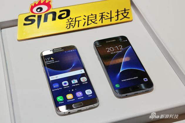 三星Galaxy S7/S7 edge,其中右侧为edge版