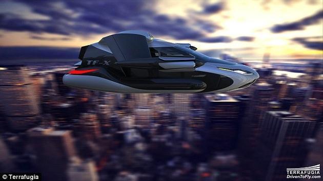 未来坐它上下班!飞行汽车TF-X概念设计曝光