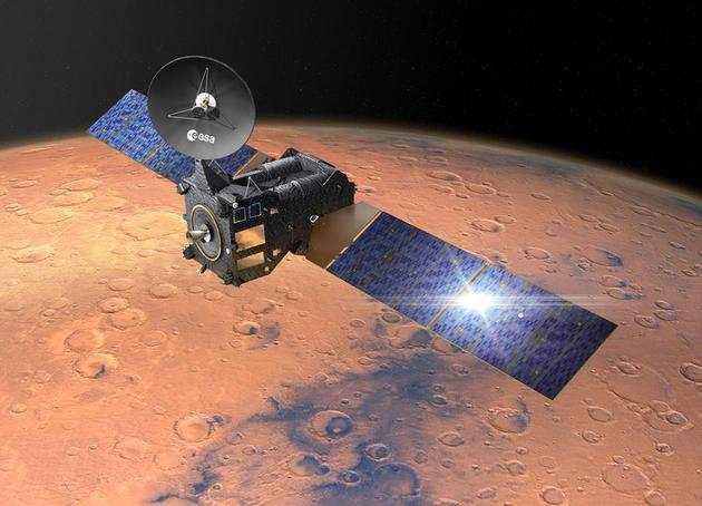 """欧洲空间局""""ExoMars""""探测计划第一阶段任务将在今年开始实施,包括向火星发射一艘轨道器和一台着陆技术验证器"""