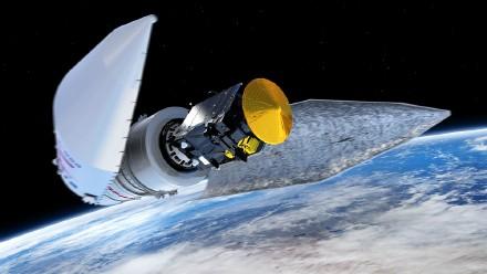 """图1发射升空后,整流罩抛离,""""ExoMars""""探测器开始脱离火箭独立工作"""