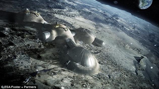 资料图片:在月球远侧建造基地。