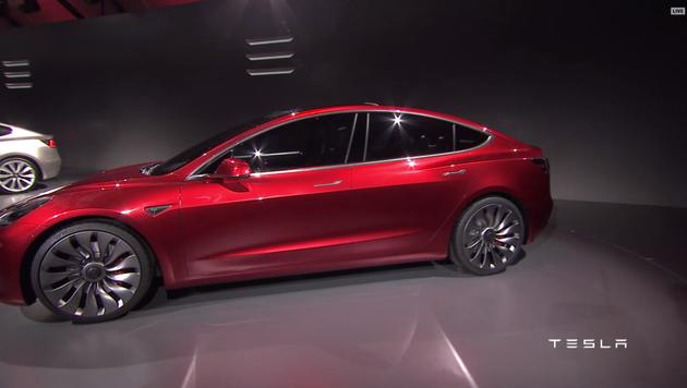 特斯拉Model 3发布 售价3.5万美元续航346公里