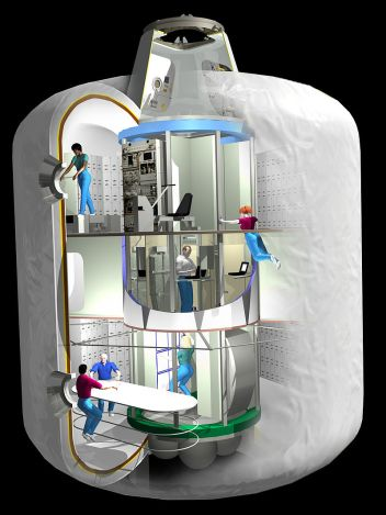 美国宇航局最初的TransHab充气舱段设计方案
