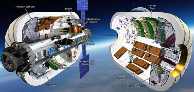 比格罗航天公司正在研制的B330充气舱设计,其内部将能够产生330立方米的体积
