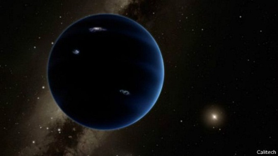 """瑞士伯尔尼大学科学家认为,这个可能存在的""""太阳系第九颗行星""""直径是地球的7.5倍,其温度为零下226摄氏度。"""