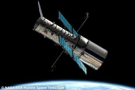 哈勃空间望远镜的艺术想象图。