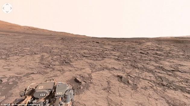 "NASA喷气推进实验室公布了一张""纳米布山丘""(Namib"