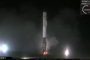 SpaceX再次成功从海上回收火箭 并将卫星送入同步转移轨道