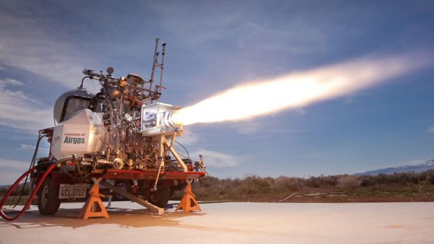 XCOR将使用火箭推进器到达平流层高度,之后再降落返回地面。