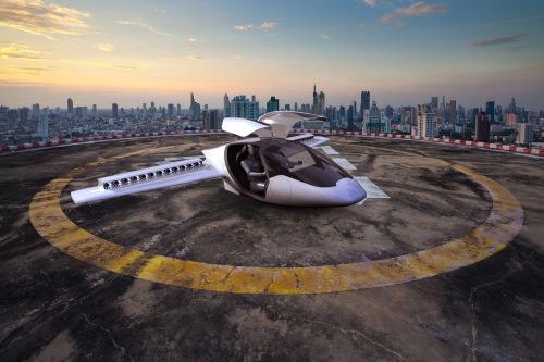 设计目标是使这类飞机几乎能够从任何地方起飞,仅需要一个约15米X15米的开阔平坦区域。(图片来源:Lilium)