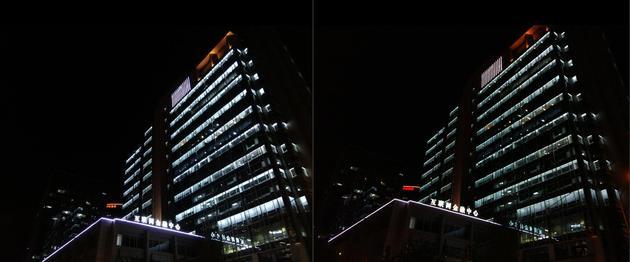 夜景拍照对比(左为小米Max右为小米5)