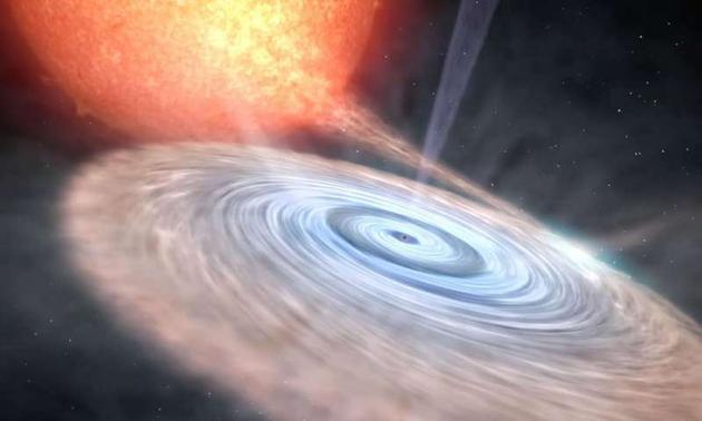 天鹅座V404黑洞周围探测到中性物质风:每秒3000公里