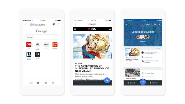 社交领域屡战屡败的谷歌推出Spaces,想用群聊整合全服务