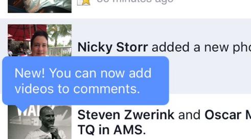 用图片回复算什么 Facebook已经开始测试用视频回帖了