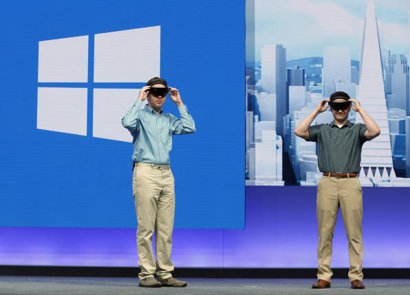 微软在今年Build开发者大会上正式发布HoloLens