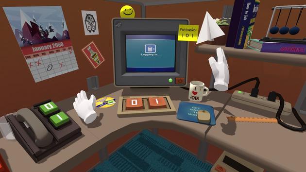 HTC Vive上的《虚拟工作》游戏