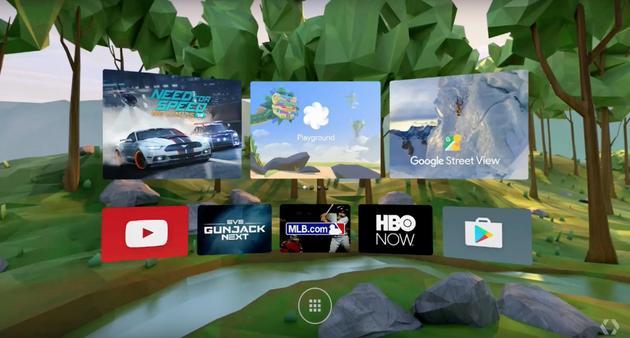 谷歌Daydream平台主屏幕
