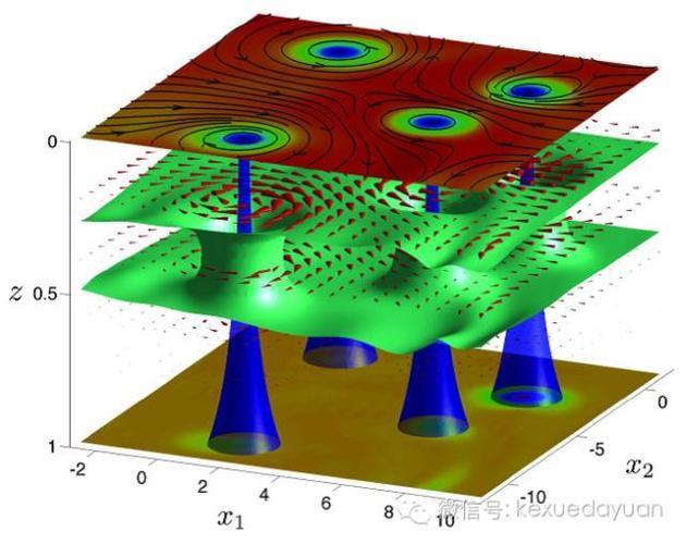 图5.量子引力图像下的涡旋与反涡旋(来自《科学》杂志)