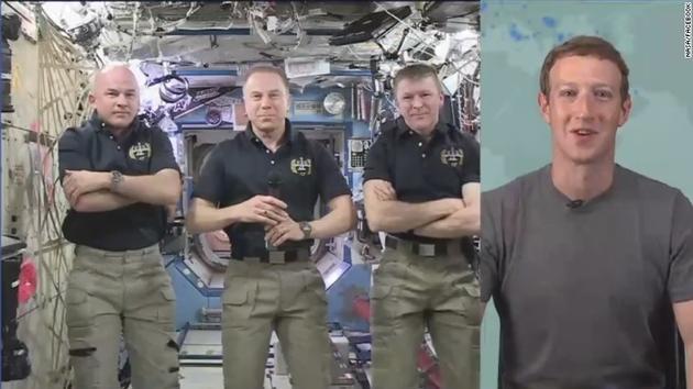 这个直播比做饭高端:扎克伯格直播和空间站宇航员聊天